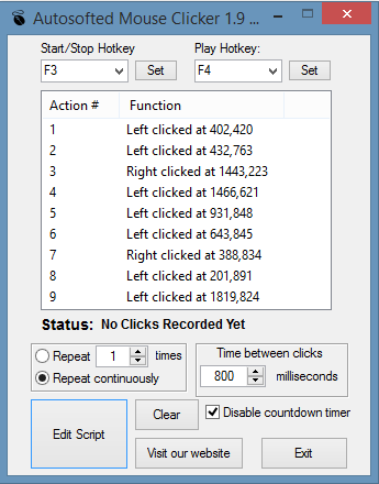 Click to view Auto Mouse Clicker by Autosofted screenshots