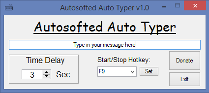 Click to view Auto Typer by Autosofted screenshots